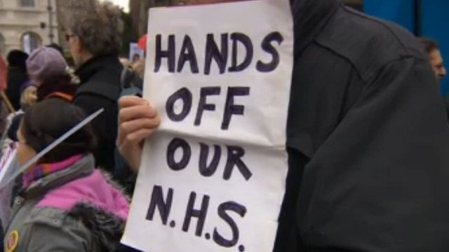 Protests over NHS changes