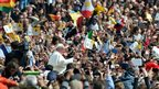 Pope Francis at his first Easter Sunday Mass in St Peter's Square, 31 March