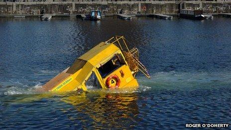 Sinking duckboat