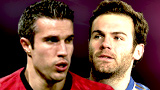 Robin van Persie and Juan Mata