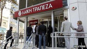 A Laiki bank branch in Nicosia, 29 Mar 13
