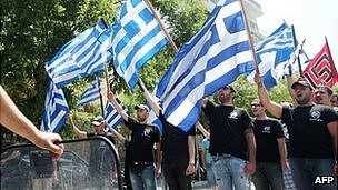 Greeks block Golden Dawn handout