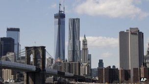 One World Trade Center under construction in New York 20 March 2013