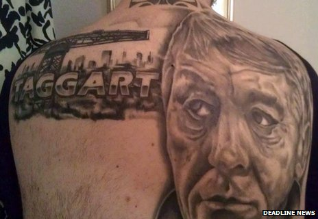 Taggart fan's tattoo