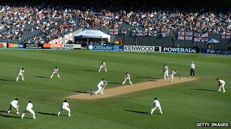 Action from day five of the recent Third Test match between New Zealand and England