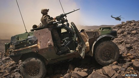 French troops in northern Mali. March 2013