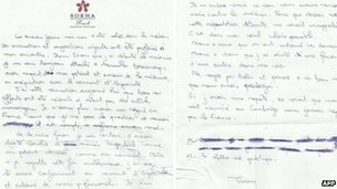Thierry Costa's suicide note