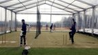 Middlesex's marquee at Radlett CC