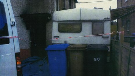 Caravan blocking access at 18 Victory Road