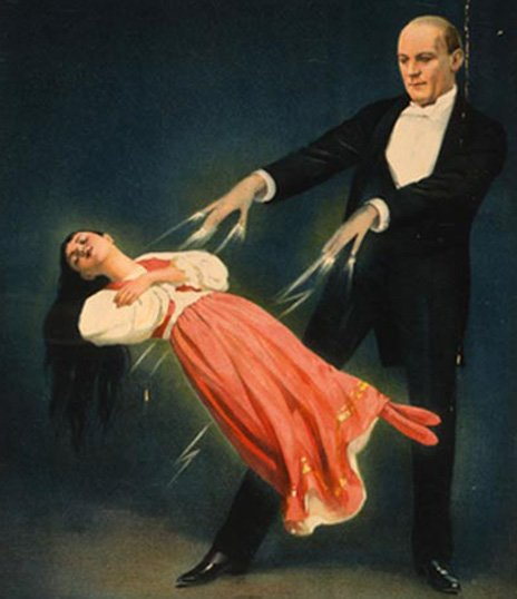 Poster advertising a Harry Kellar levitation show