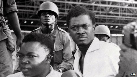 A picture taken in December 1960, shows soldiers guarding Patrice Lumumba