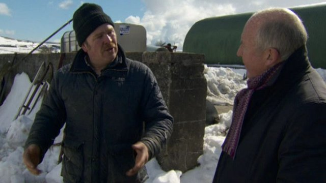 Farmer Brian Wharry talks to BBC Northern Ireland's Mervyn Jess
