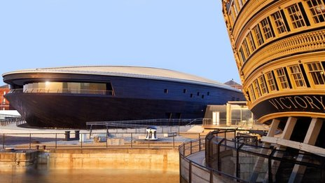 Artist's impression of Mary Rose Museum