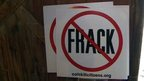 Anti-fracking lawn signs