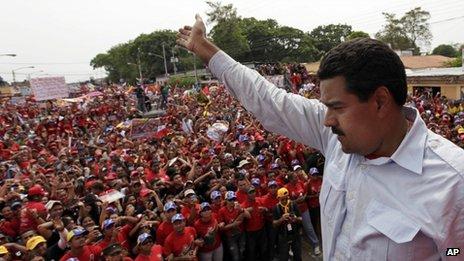 Maduro in Sabaneta de Barinas
