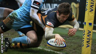 Elliot Daly scores a spectacular try for Wasps against Northampton