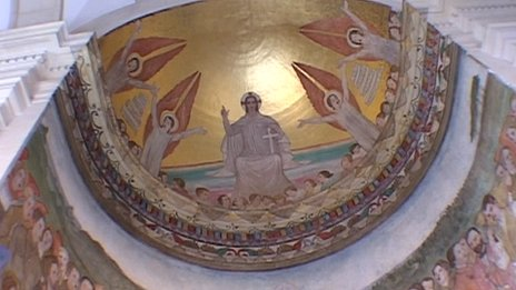 Mural at Thorney Hill church