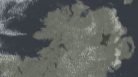 Satellite image of north of Ireland