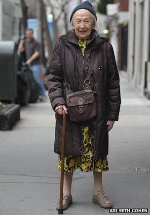 A 102-year-old woman, called Francis, poses for Ari Seth Cohen