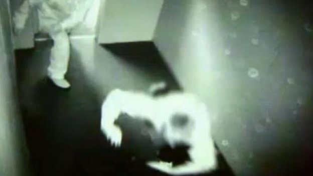 CCTV showing boy in time-out room