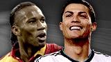 Didier Drogba and Cristiano Ronaldo