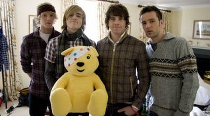 McFly with Pudsey the Bear
