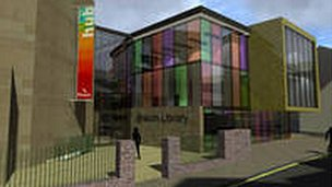 An architect's impression of Brecon library
