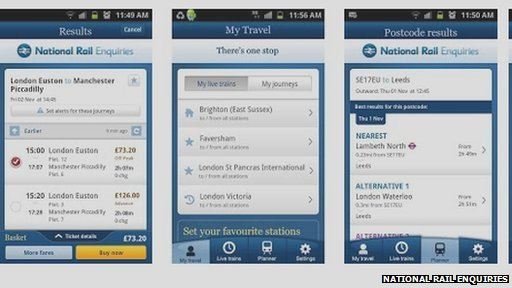 National Rail Enquiries app