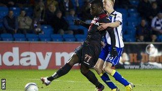 Esmael Goncalves scores for Kilmarnock against St Mirren