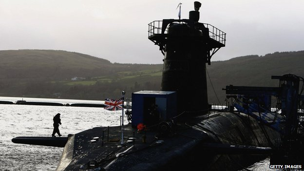 Faslane submarine base on the river Clyde