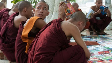 Monks in Mandalay
