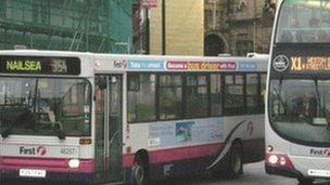 First buses in The Centre, Bristol