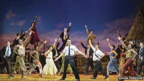The London cast of The Book of Mormon