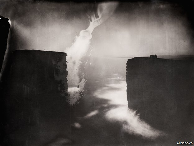 Last Light, Dun Briste, 2012, wet-plate collodion