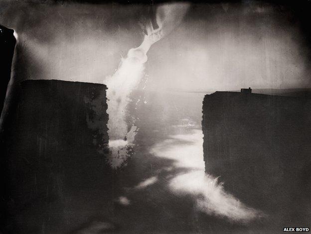 Last Light, Dun Briste, 2012, wet-plate collodion