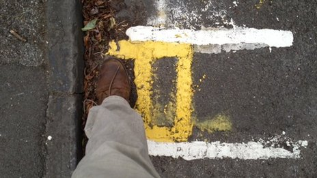 Double yellow lines in Cambridge
