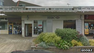 HSBC bank in Broadstone, Poole