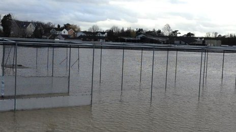 Cricket nets underwater