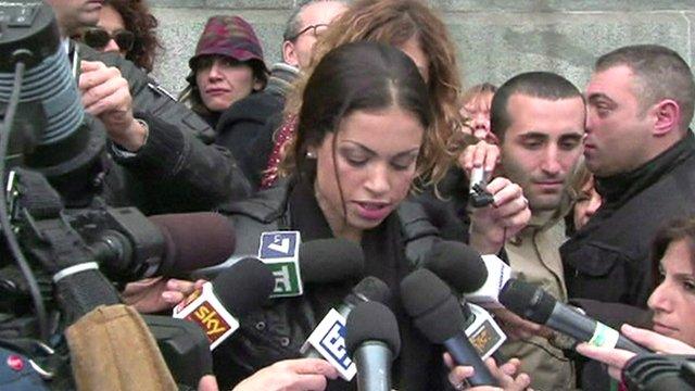 Karima El-Mahroug outside court