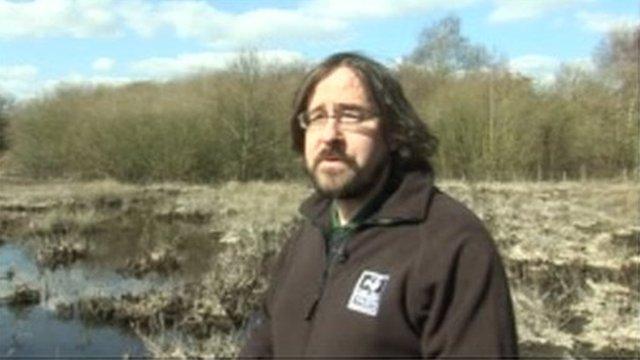 Erin McDaid from the Nottinghamshire Wildlife Trust