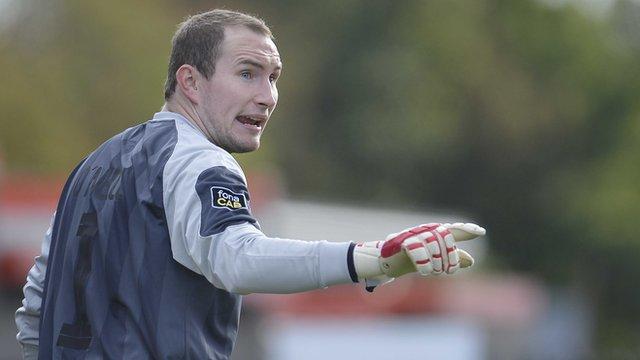 Crusaders goalkeeper Sean O'Neill