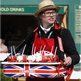 A strawberry seller at Aintree
