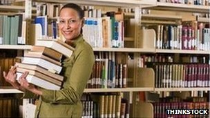 eacher with books