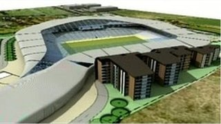 Artists' impression of new stadium