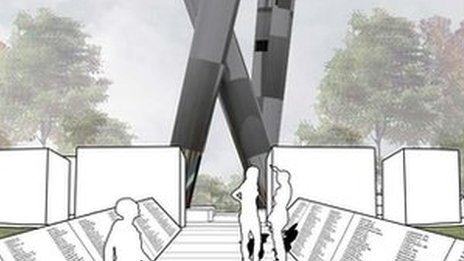 One of the proposed Bomber Command memorial designs