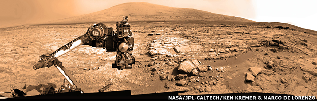 Curiosity panorama prepared by Ken Kremer and Marco Di Lorenzo