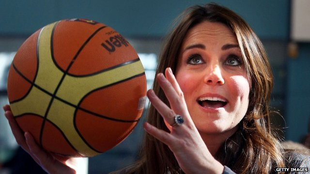Duchess of Cambridge holding a basketball