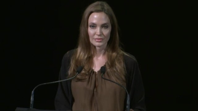 Angelina Jolie introduces Malala at the Lincoln Centre