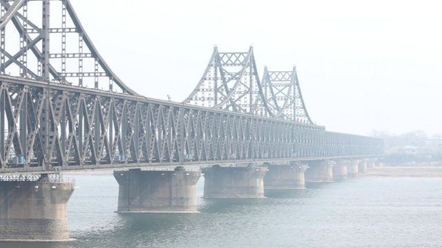Bridge between China and North Korea at Dandong, China