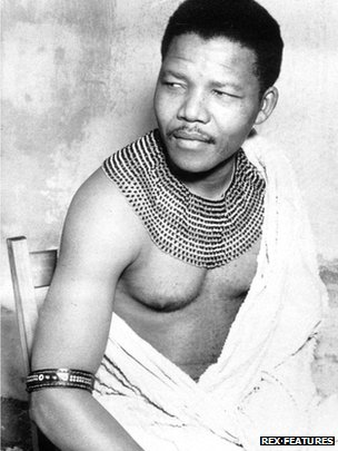 Nelson Mandela as a young man